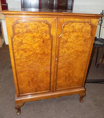 Double fronted walnut cabinet
