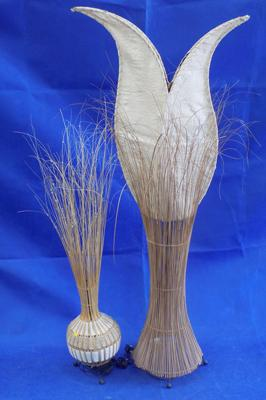 Two reed lamps (one standing lamp & one table lamp)