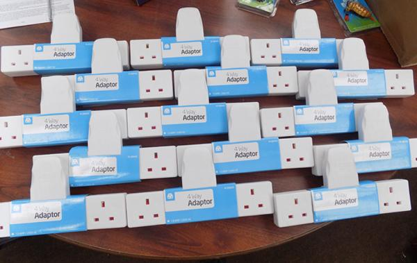 Fifteen new four way plug adapters
