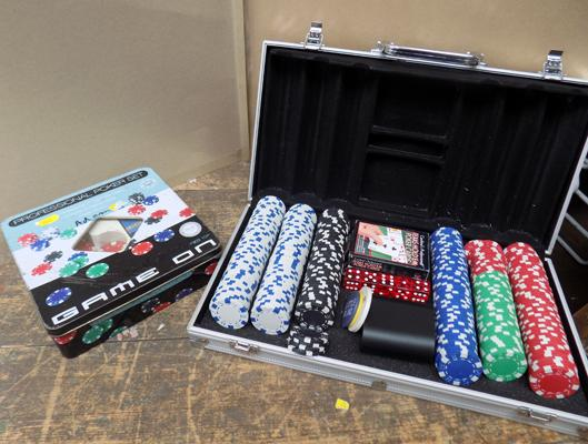 Poker set with spares