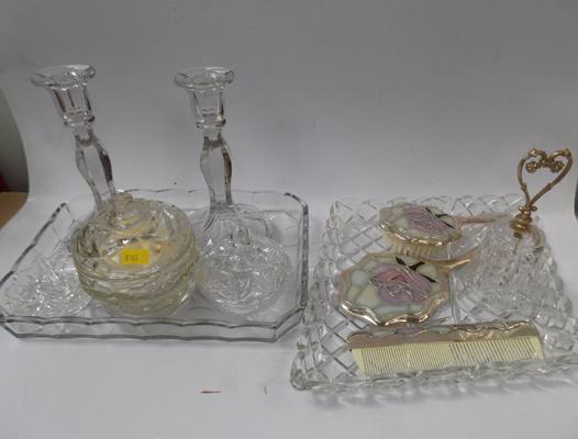Glass dressing table set and others