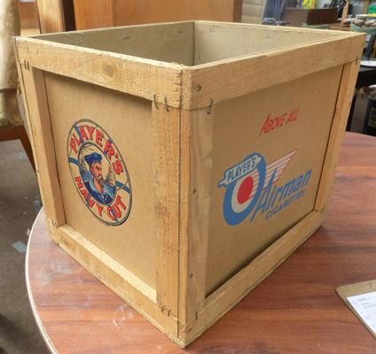 1956 original Player's Navy Cut shipping crate