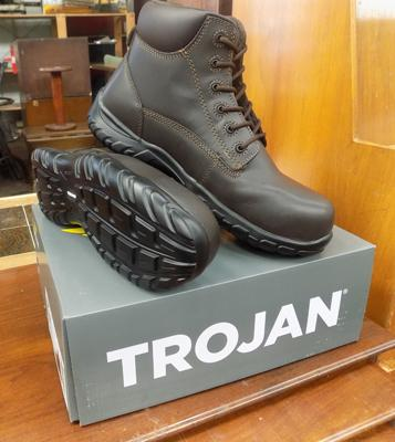 Size 8, new safety boots by Trojan