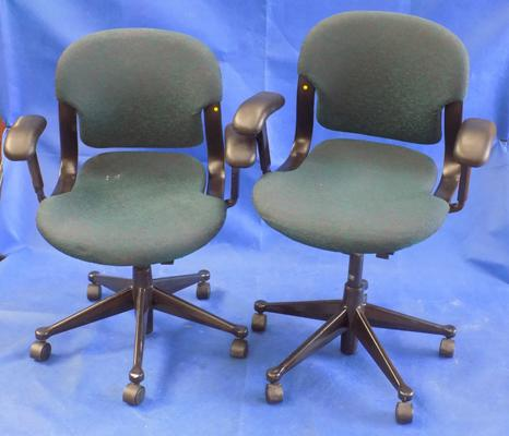 Two Herman Miller armed office chairs