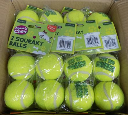 24 pack of dog squeaky balls