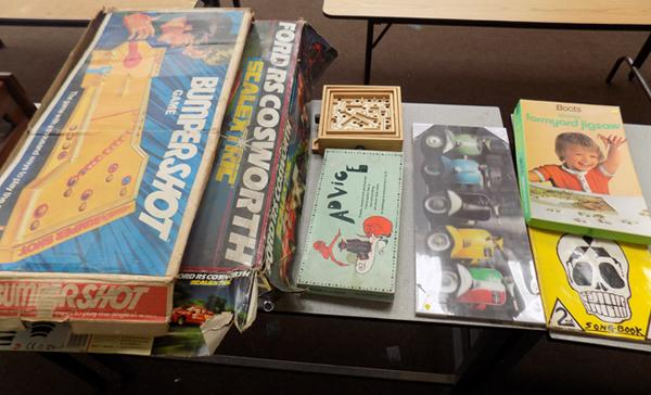 Selection of vintage games etc.