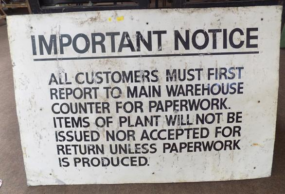 Large important notice sign