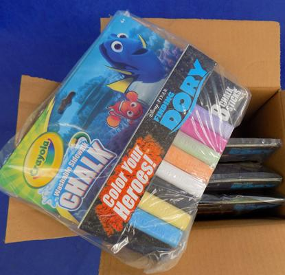 Box of Finding Dory pavement chalks