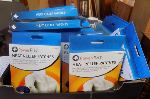 Box of heat relief patches