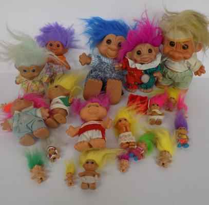 Box of collectable trolls