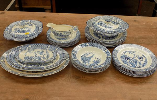 Collection of blue & white dinner ware