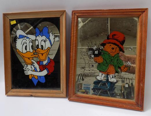2 childrens mirror - Paddington and Donald Duck