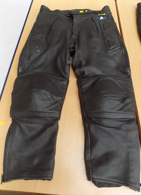 Black motorcycle pants - size 38 GB