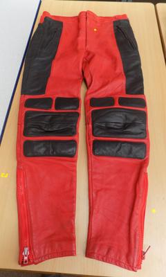 Red/ black motorcycle pants - size M