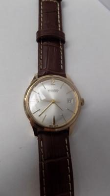 Mid Century vintage 9ct gold Garrard gentleman's wrist watch