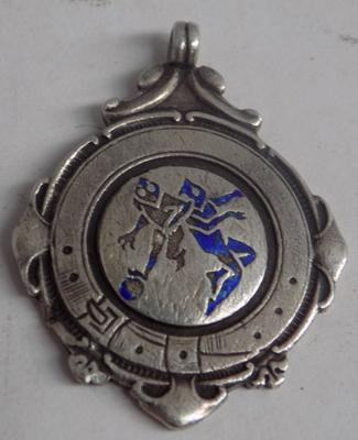 1939-40 Silver hallmarked fob medal-evening dispatch football league