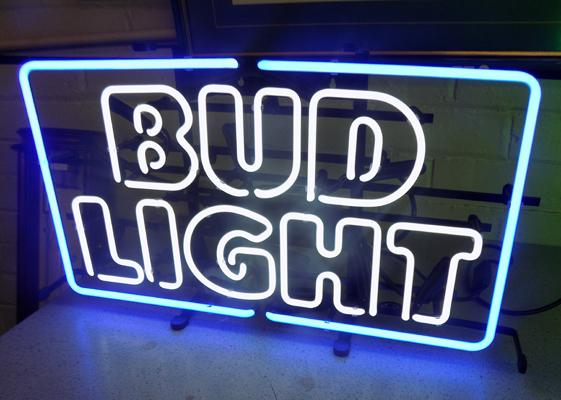 Bud Light neon sign, W/O