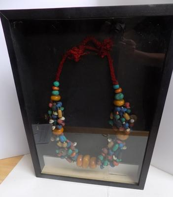 "Framed tribal necklace - 17"" x 23"""
