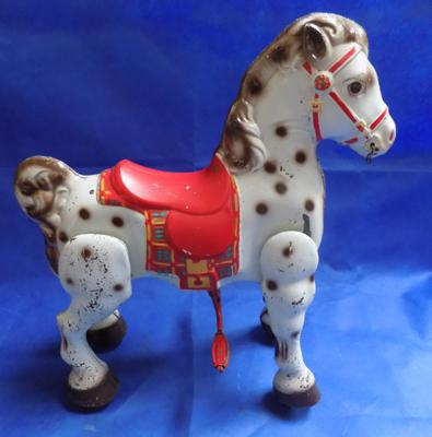 "Vintage child's bucking bronco approx 30"" high"