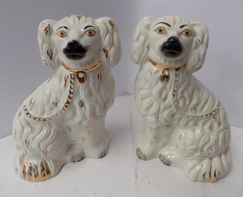 "Beswick pair of fireside dogs-no damage approx 11"" high"