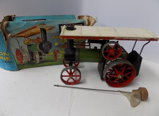 Mamod steam traction engine with original box