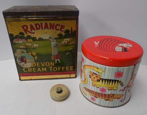 3x Antique & vintage collectable tins