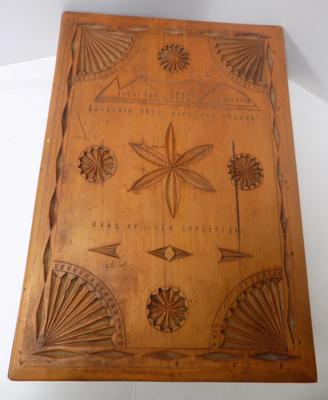 Antique hand carved bible/book box circa 1900