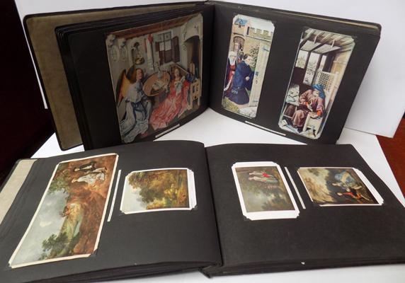 2x 1920's Postcard albums-English Art-postcards & prints