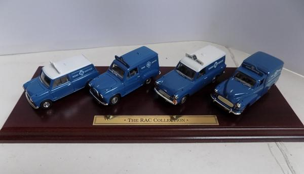 Vanguard 1-43 scale Ltd Edition-The RAC collection, with display stand, paperwork & cert No 1000