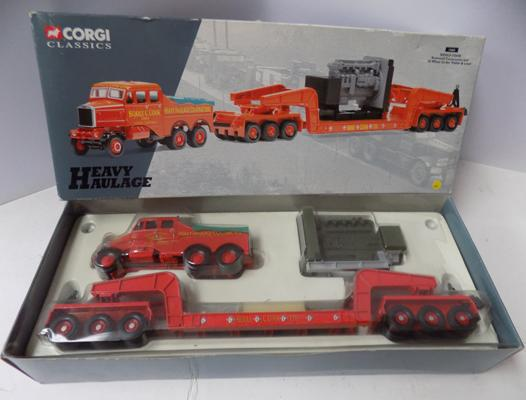 Corgi Limited Edition no 17603 heavy haulage series scammell tractor and 24 wheel girder trailer set