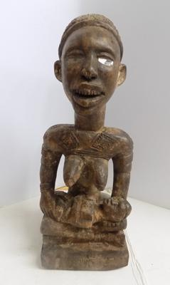 "Hand carved Yombe fertility figure - from the Kongo tribe.  - 15"" high"