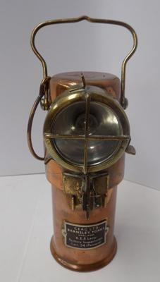 Vintage copper & brass-Ceag Ltd factory inspection lamp