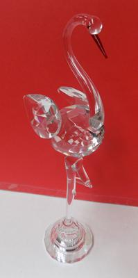 "Crystal flamingo-approx 9.5"" high-no damage"