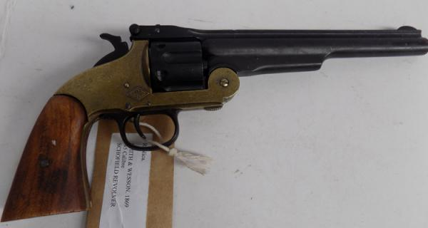 Replica Smith & Wesson 1869 .45 calibre Schofield revolver