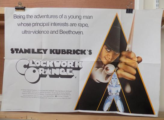 "Original Clockwork Orange poster - approx. 40"" long by 27"" wide"