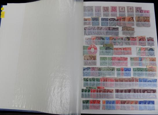 Stockbook of Great Britain stamps from Queen Victoria