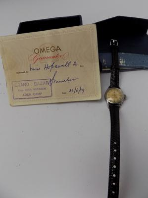 Genuine ladies Omega Seamaster watch with original guarantee dated 1959