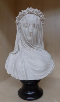 "Bust of veiled Bride 14"" x 9"""