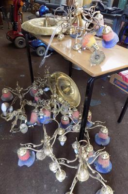 Job lot of light fittings incl. shades