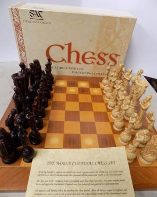 SAC (Studio Anne Carlton) 1966 world cup final chess set & board. Limited-no longer made-rare