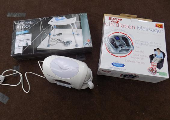 Circulation massager, shaver stool and Teasmaid