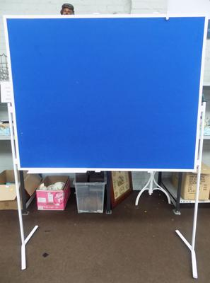 Extra large felt, double sided floor standing notice board