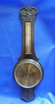 "Large vintage barometer 33"" length"