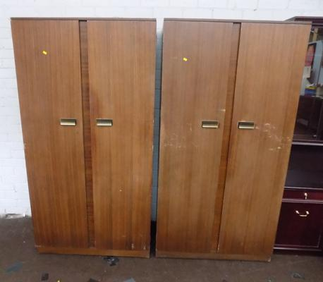 Two double wardrobes