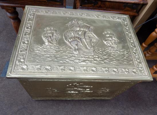 Brass stick box - large