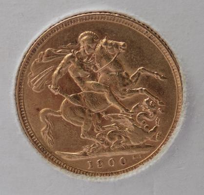 1900 Full Sovereign coin