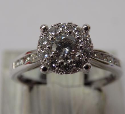 Platinum diamond ring approx size L