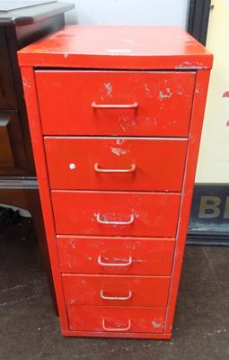 Bissell style six drawer filing cabinet