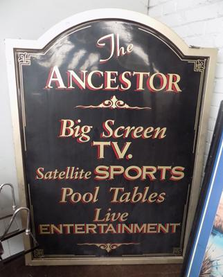 "Vintage 5ft 7 1/2"" high x 5ft wide fiberglass - 'The Ancester' pub sign, Leeds"