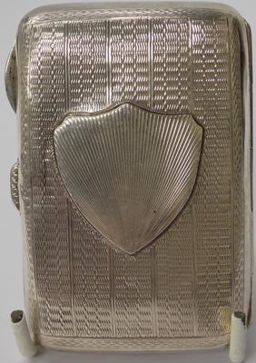 "Solid silver cigarette case 3"" x 2 1/4"""